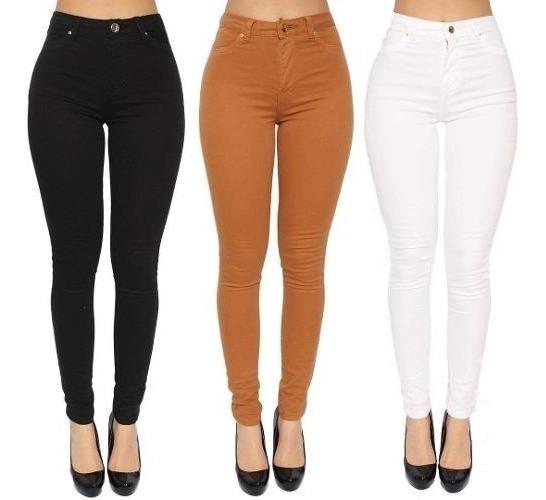 Kit 3 Calças Jeans Plus Size Feminina Cintura Alta Promoção