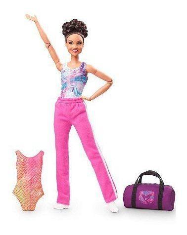 Imagem 1 de 8 de Boneca Barbie Collector Laurie Hernandez 2016 Ginasta Top