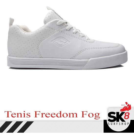 Tênis Masculino Freedom Branco Tipo Qix Troca De Coleção