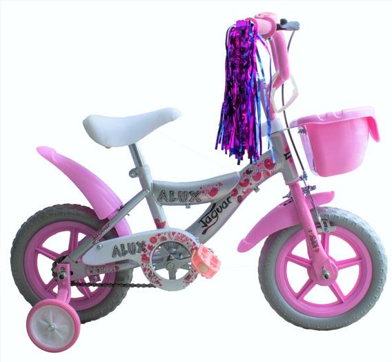 Bicicleta Para Niña Rodada 12 Llantas Entrenadoras