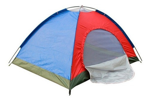 Carpa Camping Semi Impermeable 4 Personas Armable Colores
