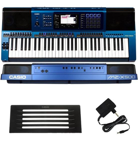 Teclado Musical Profissional Casio 61 Teclas Mzx500 Azul