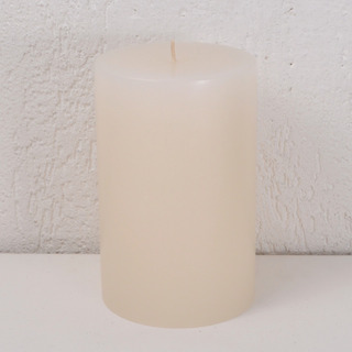 Vela Cilíndrica Branca Pilar Grande 12x19cm Artesanal