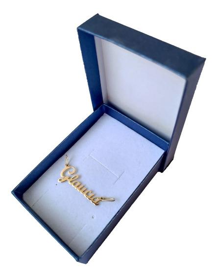 Pingente De Nome Em Ouro 18kl/750 Frete Gratis