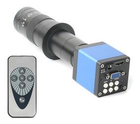 Câmera Microscópio Digital 720p Trinocular 14mp + Lente 130x
