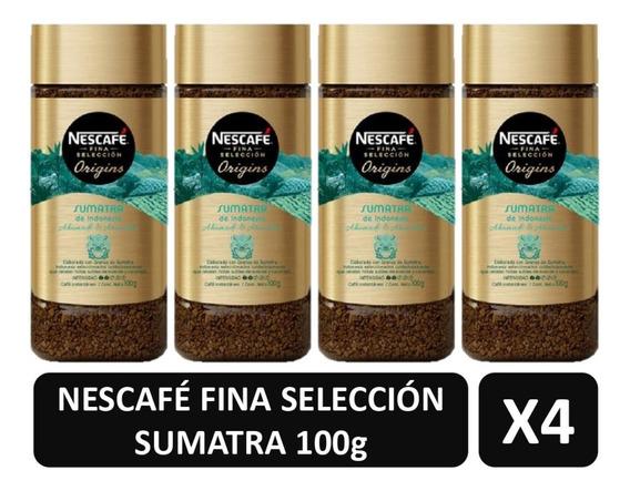 Cafe Nescafe Sumatra Fina Selección Origins X4 Frascos