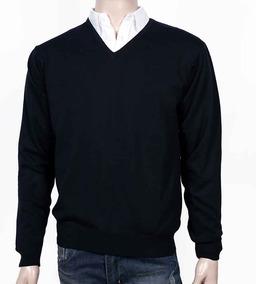 Sweater Hombre Escote V. 100% Algodón. Variedad De Colores