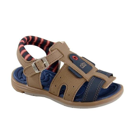 Sandália Baby Equilíbrio Kidy Camel Marinho - 0010812