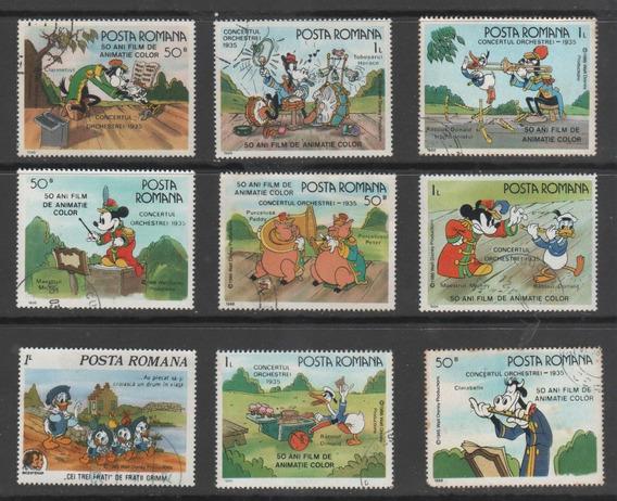 Romênia - Coleção De Selos Tema Disney - 8094