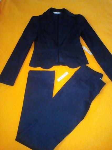 Pantalon Y Chaqueta, Conjunto Moderno Importado Gris Oscuro