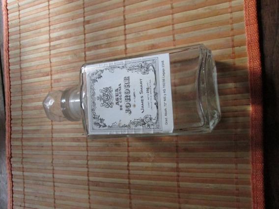 Antiguo Frasco De Agua De Colonia Johore James Smart