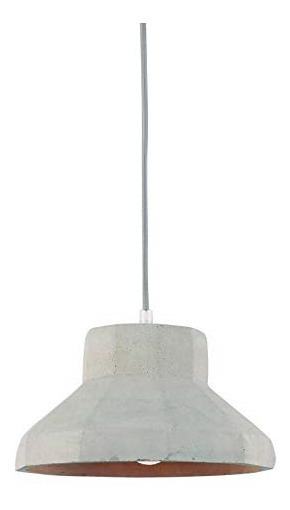 Pendente Luminaria Concreto 26 Cm Lustre Lighting Cinza