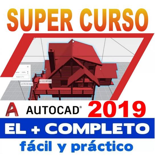 Curso De Autocad 2019/ Completo El Mejor/ Entrega Inmediata