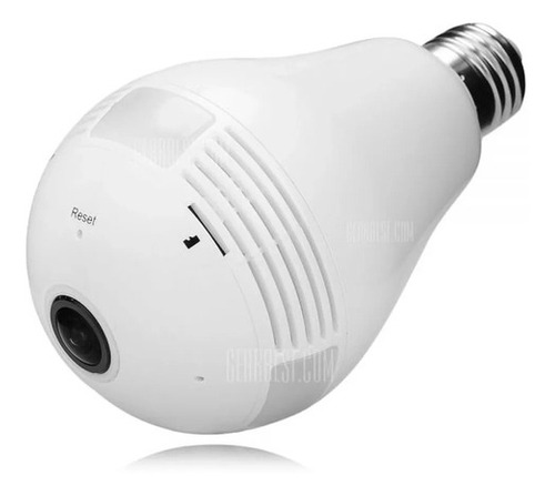 Imagem 1 de 7 de  Lampada Espia Camera 360° Panoramica Com Wifi