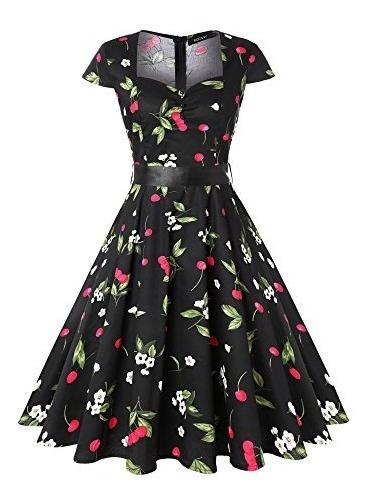 Vestido De Te Retro Vintage Cocktail Roosey Para Mujer Vesti