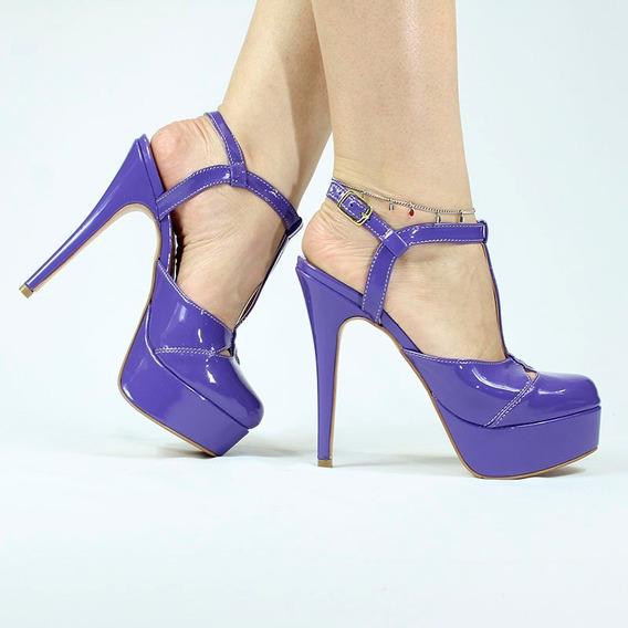 Sandália Plataforma Modelo Valenttini Gucci Em Varias Cores