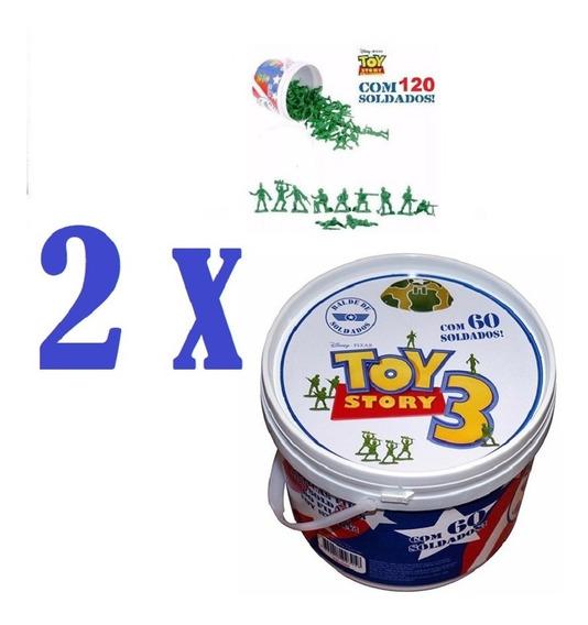 Balde Soldadinho Toy Story Com 120 Soldados - Toyng