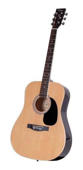 Guitarra Acustica Parquer Custom Jumbo Natural 41 Funda