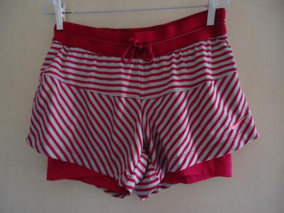 Shorts Fitness De Corrida Nike M Listrado Pink Usado