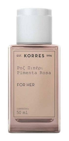 Korres Perfume Feminino Pimenta Rosa Eau De Cologne 50ml Blz