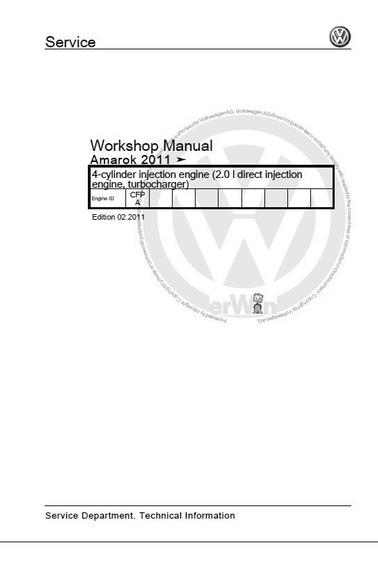Manual De Serviços Amarok 2011 2.0 Motor Cfpa