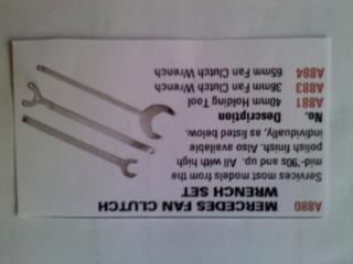 A-880 3 Pc. Mercedes Fan Clutch Wrench Set