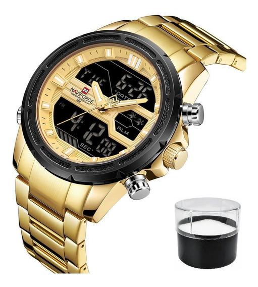 Relógio Naviforce 9138 Masculino Original Com Estojo E Nota
