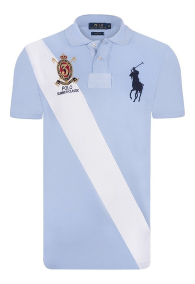 Chomba Remera Polo Big Franja Frente Pique, Importado