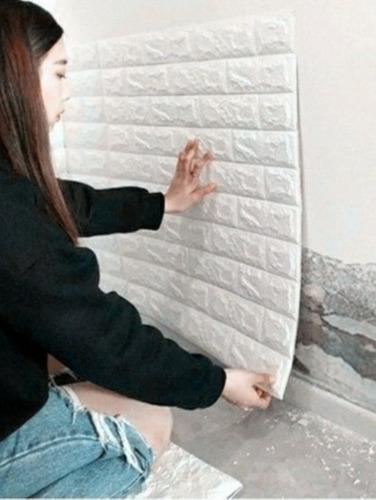 Pared Blanca 3d Autoadhesivo Panel 70cm X 77cm X 5 Unidades