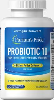 Probiótico 10 - 20 Bilhões Por Porção- 120 Caps - Puritan´s