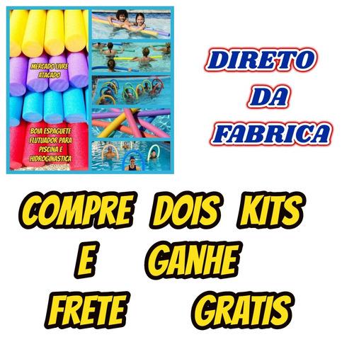 Boia Espaguete Macarrão Flutuador Kit Com 12+brindes Para Natação Piscina Parque Aquatico Academias Clubes Adcs Mar Lago