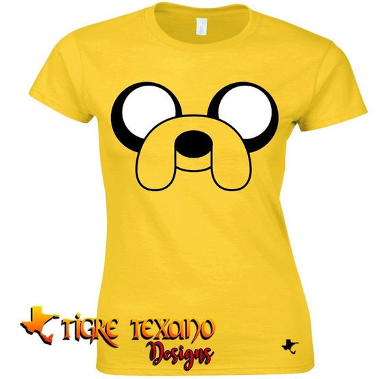 Playera Dibujos Animados Jake Adv. Time Tigre Texano Design