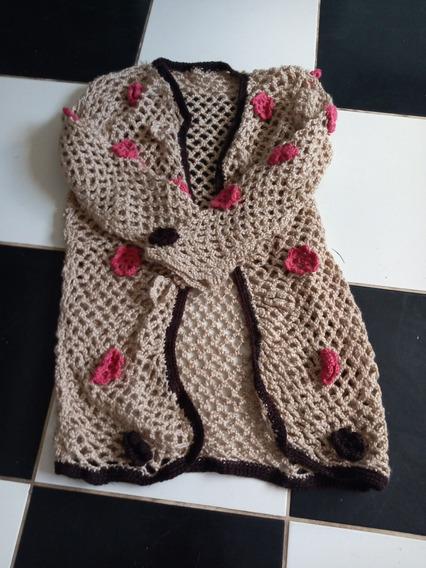 Saco Hecho A Mano Crochet Estilo Rapsodia. Unico!