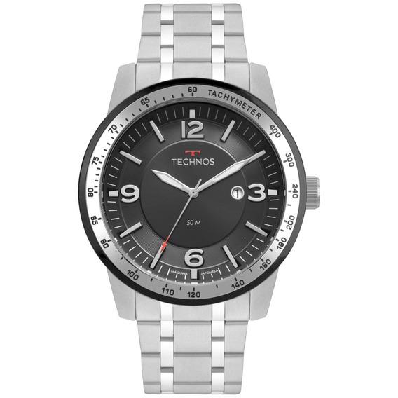 Relógio Masculino Technos Racer 2117lbc/1p 48mm Aço Prata