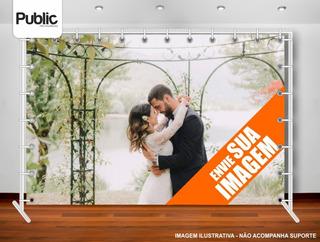Banner Backdrop Festa Formatura Casamento 3x2m Personalizado