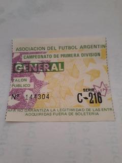 Entrada River Plate Vs Unión De Santa Fe 1987
