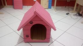 Casinha De Madeira Para Cachorro Grande Grande (gg) Rosa