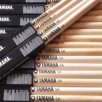 Baquetas Palillos Yamaha 5a Punta Madera