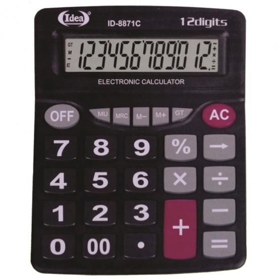 Calculadora De Mesa Comercial Escritório Kit Com 5 Unidades.