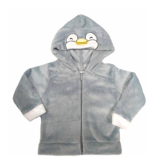 Chamarra Kiss Con Gorro Bordado Pinguino