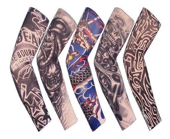 Manga Protectoras Sol Tatuaje Licra Unitalla Unisex 5 Piezas