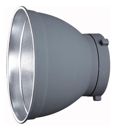 Imagen 1 de 8 de Reflector Cacerola Flash Visico Montura Bowens 18cm