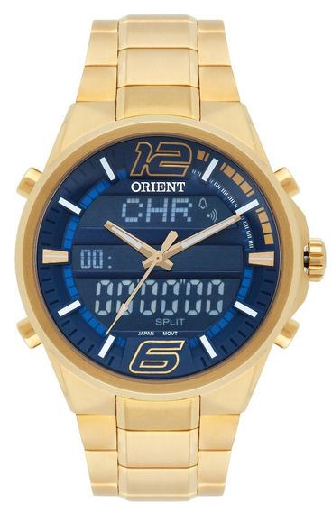 Relógio Masculino Orient Analógico Mbssa001dykx Dourado