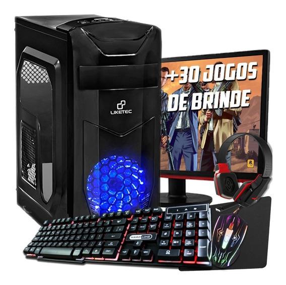 Pc Gamer Completo Barato - 4gb - Tela 19 - Roda Tudo