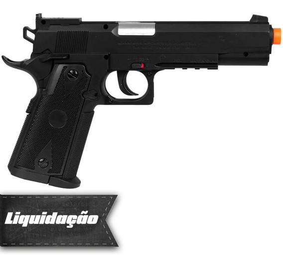 Pistola Pressão Co2 Esferas Aço Swiss Arms P1911 Match 4.5mm