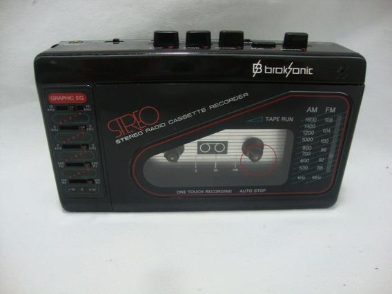 Radio Am Fm E Toca Fitas Broksonic ***não Funciona*** R.02