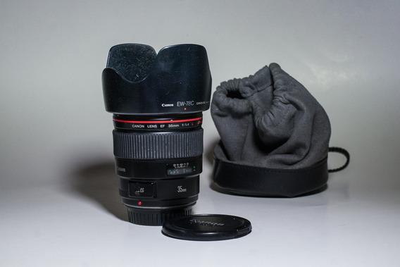 Lente Canon 35mm F 1.4 Linea L