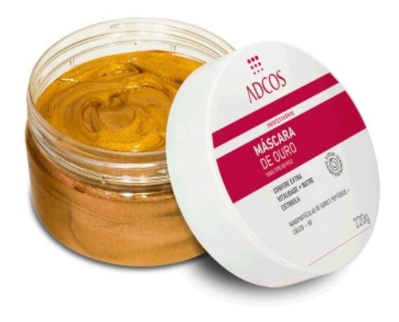 Kit Adcos Mascar De Ouro+esfoliante Cristais+peeling Hortela