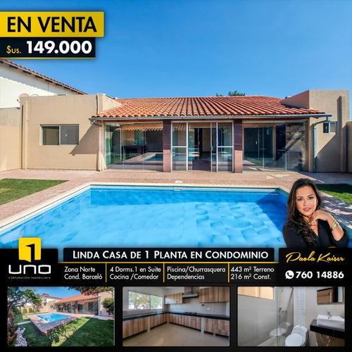 Linda Casa Con Piscina En Condominio Privado