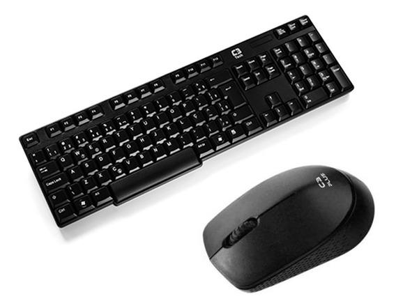 Kit Teclado E Mouse Para Empresas C3tech K-w600bk Modelo Universal